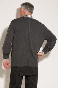 Ovidis 1-8001-91-2 Cardigan for Men - Grey, Adaptive Clothing, M