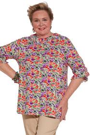 Ovidis 2-1101-00-2 Knit Top for Women - Pink , Kiki , Adaptive Clothing , 1XL