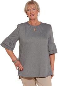 Ovidis 2-1002-91-6 Knit Top for Women - Grey , Cristy , Adaptive Clothing , 1XL