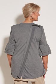 Ovidis 2-1002-91-6 Knit Top for Women - Grey, Cristy, Adaptive Clothing, 2XL