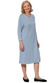 Ovidis 2-7001-80-4 Nightgown for Women - Blue , Nikky , Adaptive Clothing , XL