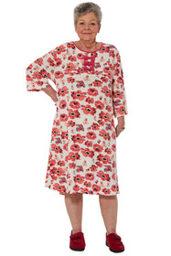 Ovidis 2-7101-39-4 Nightgown for Women - Pink , Lori , Adaptive Clothing , XL