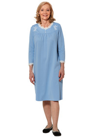 Ovidis 2-7201-80-1 Nightgown for Women - Blue , Sandy , Adaptive Clothing , 2XL