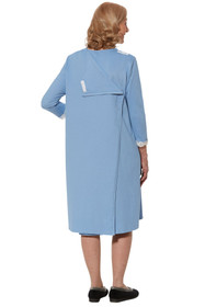 Ovidis 2-7201-80-1 Nightgown for Women - Blue, Sandy, Adaptive Clothing, S