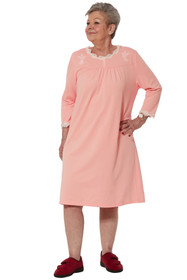 Ovidis 2-7201-32-1 Nightgown for Women - Pink , Sandy , Adaptive Clothing , 2XL