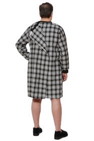 Ovidis 1-9001-90-4 Nightshirt for Men - Black, Stewart, Adaptive Clothing, XL