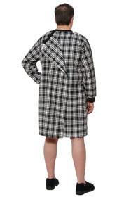 Ovidis 1-9001-90-5 Nightshirt for Men - Black, Stewart, Adaptive Clothing, 1XL