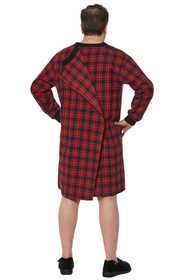 Ovidis 1-9001-20-3 Nightshirt for Men - Red, Stewart, Adaptive Clothing, L