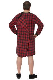 Ovidis 1-9001-20-6 Nightshirt for Men - Red, Stewart, Adaptive Clothing, 2XL