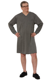 Ovidis 1-9101-91-3 Nightshirt for Men - Grey , Billy , Adaptive Clothing , M