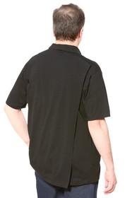 Ovidis 1-1101-90-1 Polo Shirt for Men - Black , Ralfie , Adaptive Clothing , S