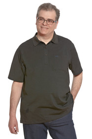 Ovidis 1-1101-90-3 Polo Shirt for Men - Black , Ralfie , Adaptive Clothing , L