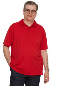 Ovidis 1-1101-20-2 Polo Shirt for Men - Red , Ralfie , Adaptive Clothing , L
