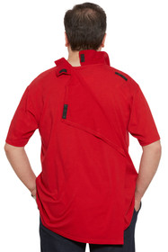 Ovidis 1-1101-20-3 Polo Shirt for Men - Red, Ralfie, Adaptive Clothing, L