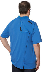 Ovidis 1-1101-87-3 Polo Shirt for Men - Blue , Ralfie , Adaptive Clothing , L