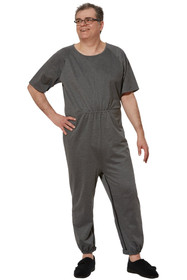 Ovidis 1-9201-91-3 Anti-Strip Jumpsuit for Men - Grey , Adaptive Clothing , XL