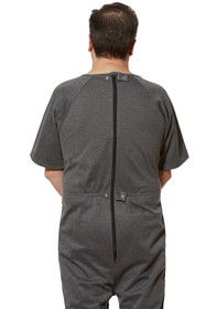 Ovidis 1-9201-91-5 Anti-Strip Jumpsuit for Men - Grey, Adaptive Clothing, 1XL
