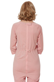 Ovidis 2-7301-30-3 Adaptive Clothing Anti-Strip Jumpsuit for Women, Pink, Large