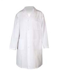 COAT LAB WHITE UNISEX LARGE BUTTON STYLE w/3 POCKETS SZ 44-46in (920-70443)