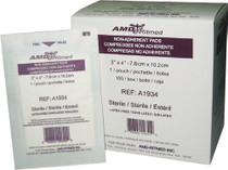 AMD A1934-BX DRESSING NON-ADHERENT 3 x 4in STER & BX/100