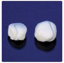Medline 30-122 SPONGE STICK ROUND STERILE X-RAY DET X-LRG 1.5in CA/50 x 5s