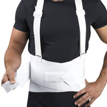 Champion 0205WH-XL Industrial Belt w/Attachable Suspenders, White, X- Large