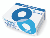 TrioMed MAT-400-2.5 Antimicrobial Medical Adhesive Tape: Porous Polymer, 2.5cm x 5m, box of 12 rolls