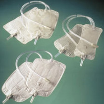 BAG URINE LEG 28oz CONTOURED DLX w/18in TBG & L/F LEG STRAPS BX/10  310-5174