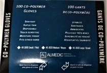 Almedic 40-3030 UTILITY GLOVE CO-POLY, P/F, N/S, LARGE, BX/100, BX