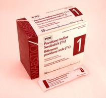 PDI S42050-X SWABSTICK 10% PVP-I PREP IND PKG BX/50 see 821-109-05