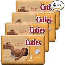 DIAPER BABY CUTIES SIZE 1 8-14 lb CA/4 x 50s 740-CR1001