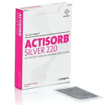 Acelity MAS105-CA DRESSING ACTISORB SILVER 220 ACTIV- && ATED CHARCOAL 10.5x10.5cm CA/50