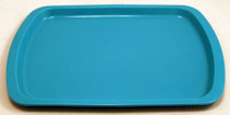 TRAY PLASTIC 10-1/8 x 6-5/8in MED BLUE 193-00130
