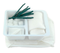 TRAY DRESSING w/3 PLASTIC FCPS WRAPPED STANDARD 626-3042