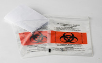BAG BIOHAZARD TRANSPORT TRIPLE SEAL w/REQ POUCH 6 x 9in BX/500 024-DIS-028