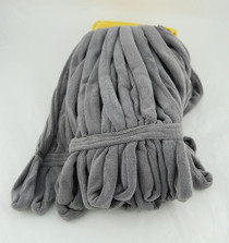 MOP MICROFIBER TUBE 33in GREY w/YLW HEADBAND 894-TWC85