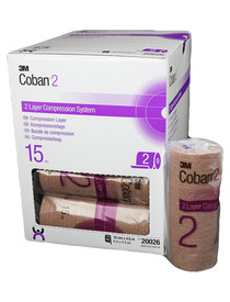3M Coban-20026 SYSTEM COBAN 2 COMPRESSION LAYER 6in x 4.9in BX/15