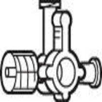 STOPCOCK 4-WAY LARGEBORE w/RTG MALE L/L STER PEEL POUCH CA/50 822-2C6204