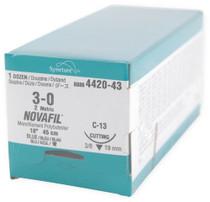 Novafil-8886442043 SUTURE NOVAFIL MONO BLUE 3-0 18in CE-4/C-13 BX/12