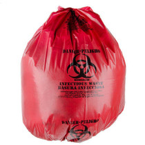 BIO-RISQUE-4050 BAG BIOHAZARD BIO-RISQUE RED PRINTED 30 x 38in BX/100