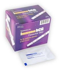 Immunostics IHS-50 ImmunohCG Pregnancy Test BX/50 3min test