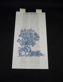 Rlaston-950231 BAG BEDSIDE PAPER 6.5x3.13x11.38in BLUE FLORAL FLAME RETARDANT CA/2000