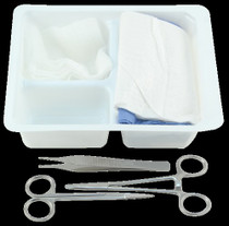 Kendall-7500-CA TRAY LACERATION LIDDED w/TOWELS & INSTRUMENTS & GAUZE CA/20