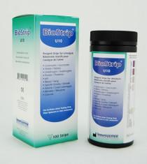 TEST URINE BIOSTRIP 10 (LEU/NIT/URO PRO/pH/BLD/SG/KET/BIL/GLU) BX/100 553-4192-U10
