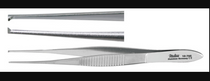 Miltex-18-785 FORCEPS TISSUE IRIS 4in STR X-DEL 1 x 2 TEETH MILTEX PREMIUM