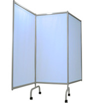 SCREEN PRIVACY DESIGNER MOBILE 3 PANEL LIGHT BLUE SURECHEK VINYL 554-3170-94