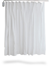 SCREEN PRIVACY WALL MNT TELESCOPIC w/WHITE VINYL CURTAIN notes 554-3400