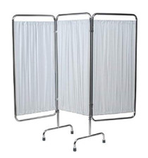 SCREEN PRIVACY 3 SECTION FOLDING ALUMINUM TBG w/WHITE PANELS 139-4296W