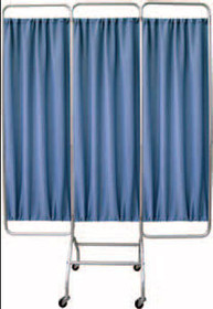SCREEN PRIVACY MOBILE 3 SECTION 72 x 19in ALUMINUM w/o CURTAIN 972-153153