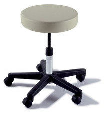 STOOL PHYSICIAN MANUAL 5-CASTER** BACK BLK BASE/SHADOW GREY UPH 144-270-001-232